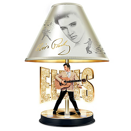 Elvis Presley The King Of Rock 'N' Roll: Golden Legend Tabletop Lamp
