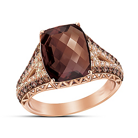 Champagne & Caviar Diamond And Gemstone Women's Ring