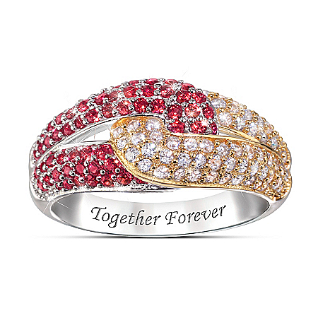 Love Is Forever Sterling Silver Engraved Ring