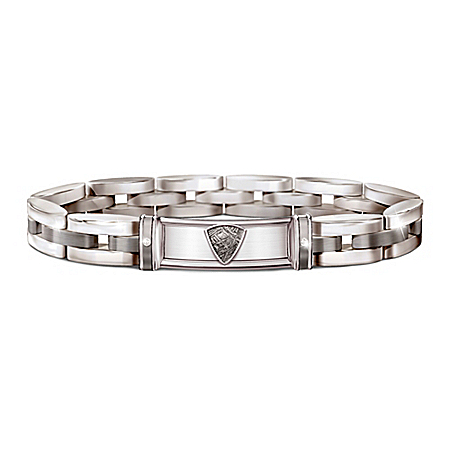 Reach For The Stars Men's Stainless Steel Meteorite Bracelet – Graduation Gift Ideas