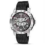 Untamed Freedom Men's Stainless Steel Motorcycle Watch