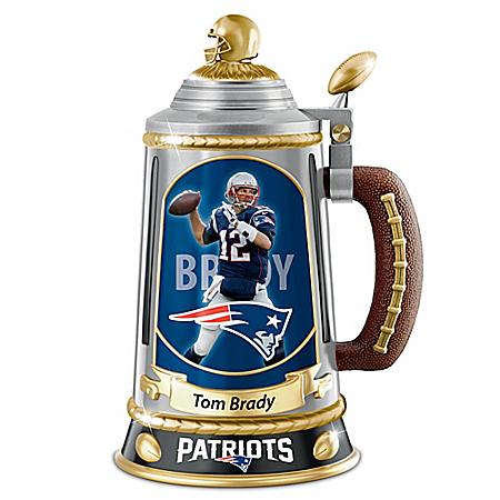 Tom Brady New England Patriots Collector's Tribute Stein