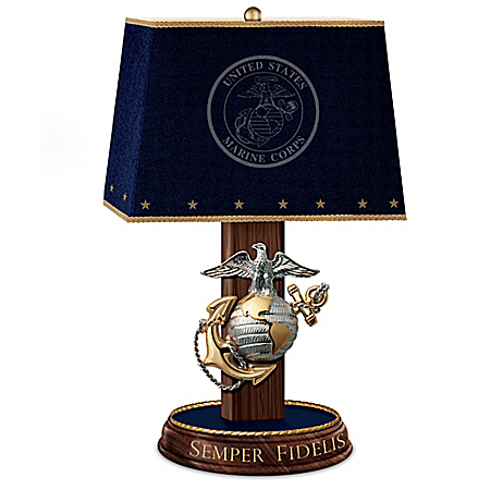 Always Faithful USMC Table Lamp