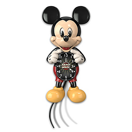 Disney Mickey Mouse Moving Eyes Wall Clock