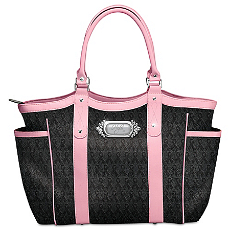 Breast Cancer Support Hope Carries On Women's Faux Leather Tote Bag