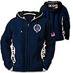U.S. Air Force Hoodie - Men's Navy Blue Hooded Fleece Jacket