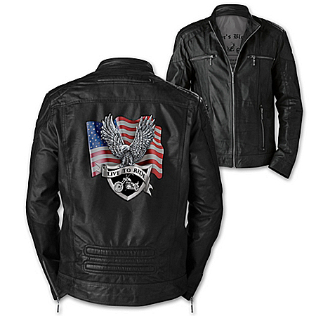 Biker's Blessing Men's Leather Jacket With Patch