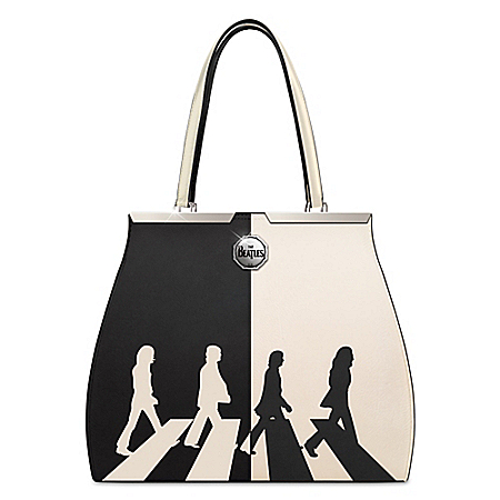 The Beatles Abbey Road Black And White Handbag