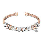 All My Love Personalized Swarovski Crystal And 18K Rose Gold-Plated Daughter Bracelet