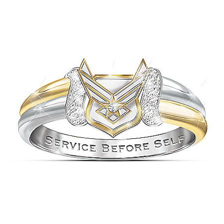 U.S. Air Force Women's Embrace Diamond Ring
