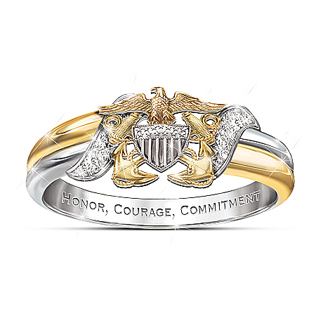 U.S. Navy Diamond Embrace Women's Ring