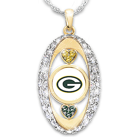 For The Love Of The Game Green Bay Packers 18K Gold-Plated Pendant Necklace
