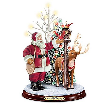 Thomas Kinkade Delivering Holiday Joy Santa Claus Figurine