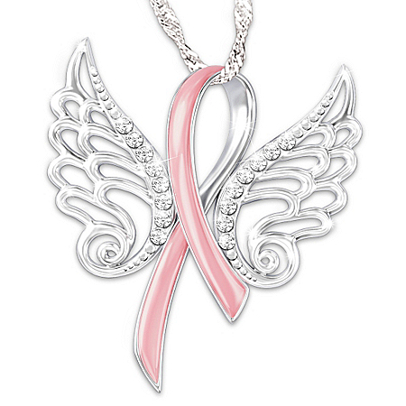 Hope Soars Breast Cancer Awareness Pendant Necklace