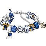 University Of Kentucky Wildcats Fashionable Fan Charm Bracelet