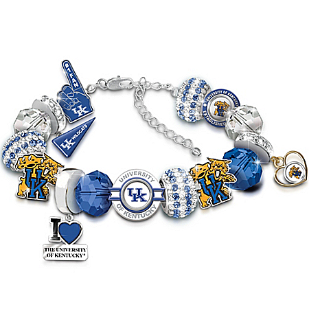 University Of Kentucky Wildcats Fashionable Fan Charm Bracelet