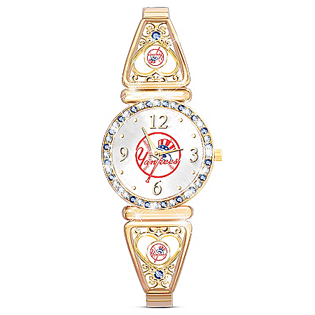 My Yankees Women's Stainless Steel Watch With Crystals