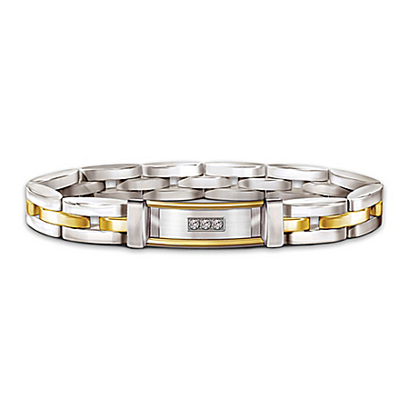 Today, Tomorrow And Always My Son Personalized Diamond Stainless Steel Bracelet – Personalized Jewelry
