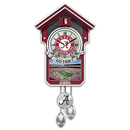 University Of Alabama Crimson Tide College Football Cuckoo Clock