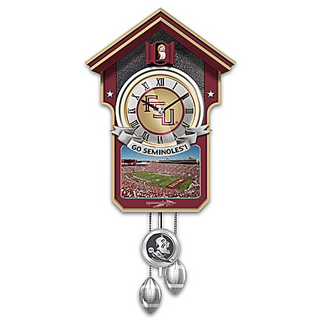 Florida State Seminoles College Football Cuckoo Clock