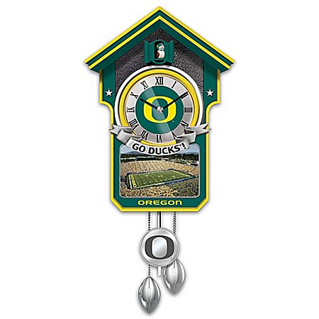 University Of Oregon Ducks College Football Cuckoo Clock