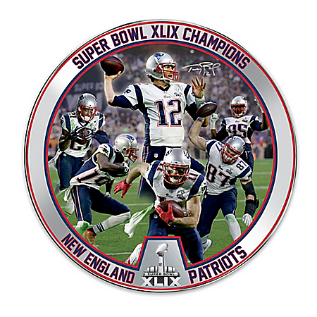 Super Bowl XLIX Champions New England Patriots Collector Plate