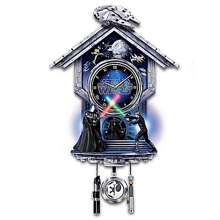 STAR WARS: Sith Vs. Jedi Wall Clock With Illuminated Lightsabers 122479001