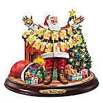 Thomas Kinkade Santa's Holiday Wishes Christmas Sculpture