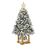 Thomas Kinkade Snow-Kissed Holiday Memories Tabletop Tree