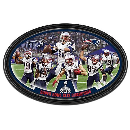 New England Patriots Super Bowl XLIX Champions Framed Wall Decor