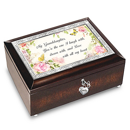 Granddaughter, I Love You Always Personalized Music Box Plays Melody Of You Are My Sunshine