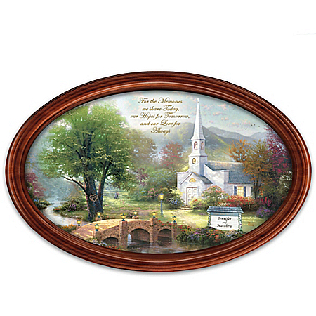 Thomas Kinkade Love For Always Personalized Framed Collector Plate