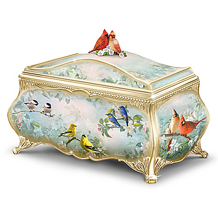 Songbird Serenade Handcrafted Heirloom Porcelain Music Box
