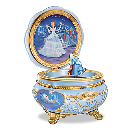 Disney Celebrating Cinderella Handcrafted Heirloom Porcelain Music Box