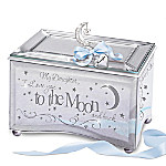 My Daughter, I Love You To The Moon Personalized Mirrored Music Box