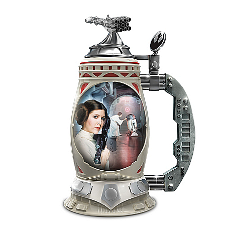 STAR WARS Princess Leia Triple-Fired Heirloom Porcelain Stein