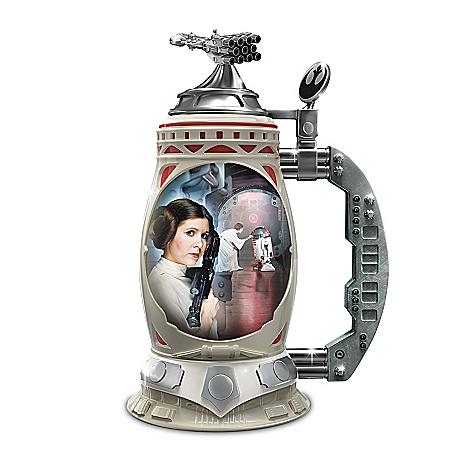 STAR WARS Princess Leia Triple-Fired Heirloom Porcelain Stein