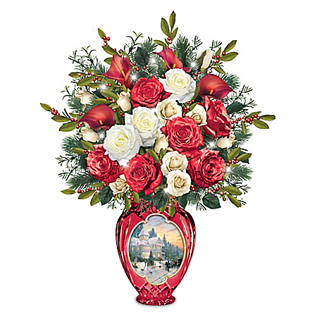 Thomas Kinkade Holiday Radiance Light Up Table Centerpiece