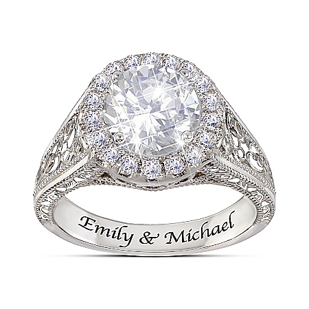 Have I Told You Lately That I Love You Personalized White Topaz