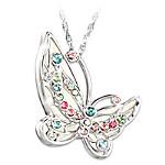 Colors Of Inspiration Swarovski Crystal Butterfly Pendant Necklace