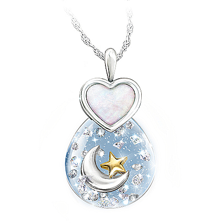 Precious Granddaughter Crystal Globe Pendant Necklace