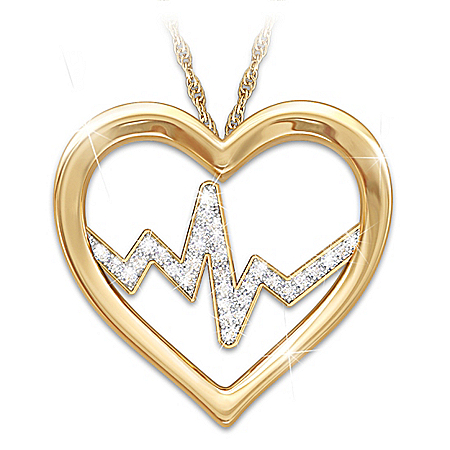 Heart Of A Nurse 18K Gold-Plated Pendant Necklace – Graduation Gift Ideas