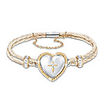 Bless And Keep My Daughter Diamond Women's Bracelet