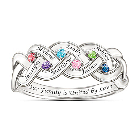 Together For Always Family Engraved Ring