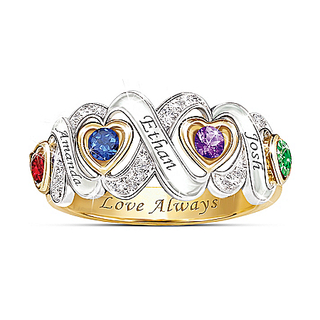 Always My Family Personalized Mothers Ring – Personalized Jewelry