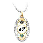 For The Love Of The Game NFL Philadelphia Eagles Pendant Necklace