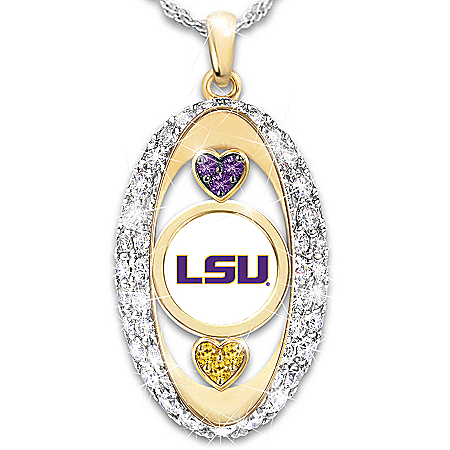 For The Love Of The Game LSU Tigers Women's Pendant Necklace