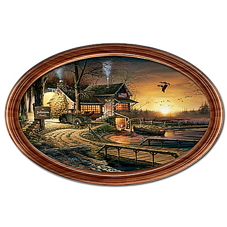 Sunrise Retreat Personalized Framed Collector Plate