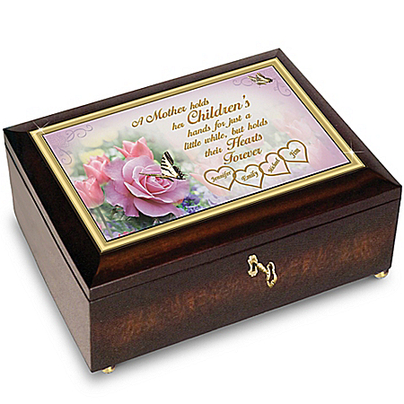 A Mother's Love Music Box Personalized With Family Names: Bradford Exchange