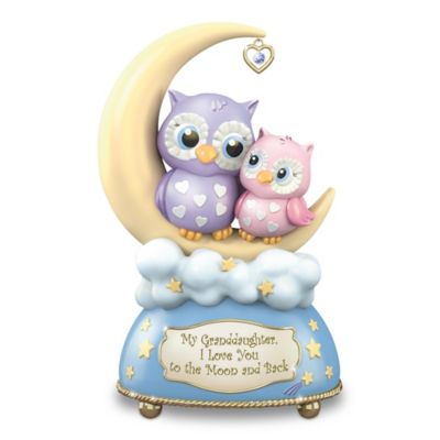 Bradford Exchange Granddaughter, I Love You To The Moon And Back With Owls
